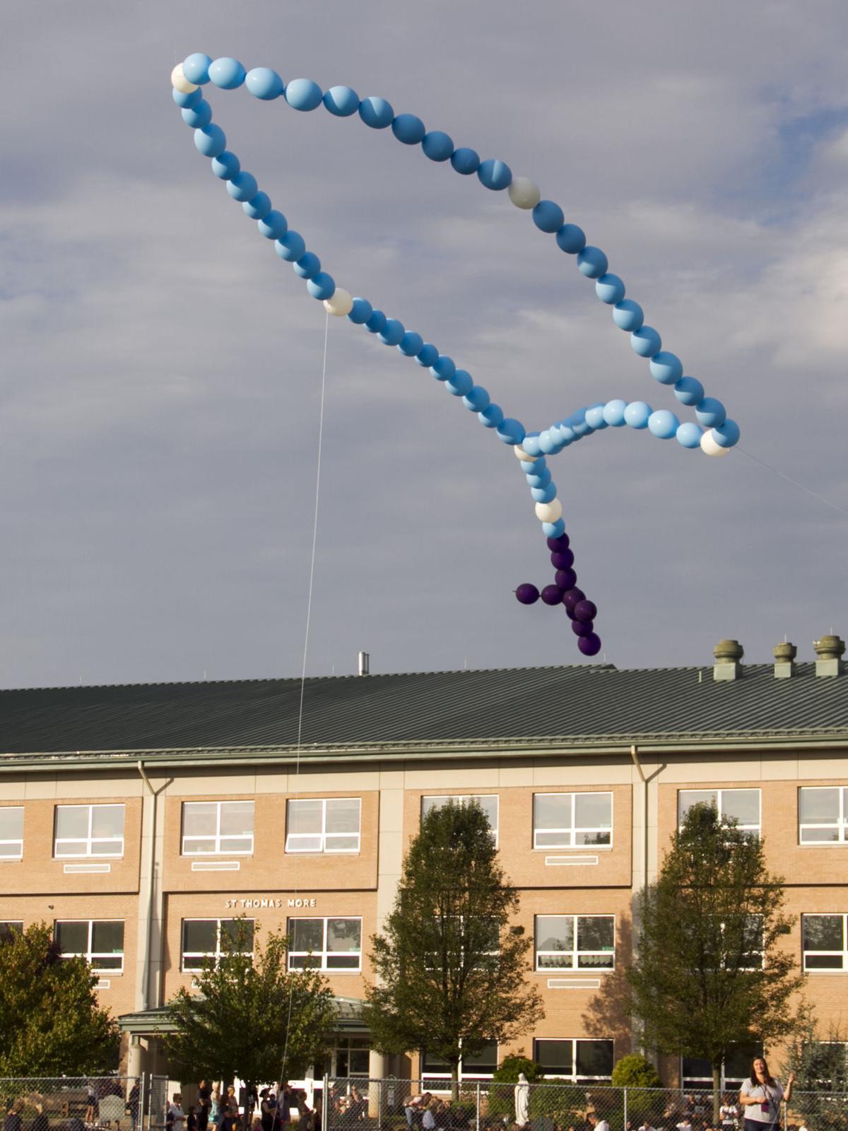Balloons over school