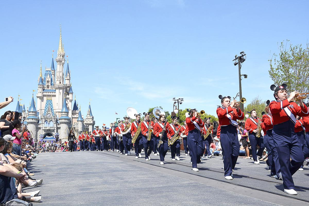 Chartiers Valley High School Marching Band performs at Disney World