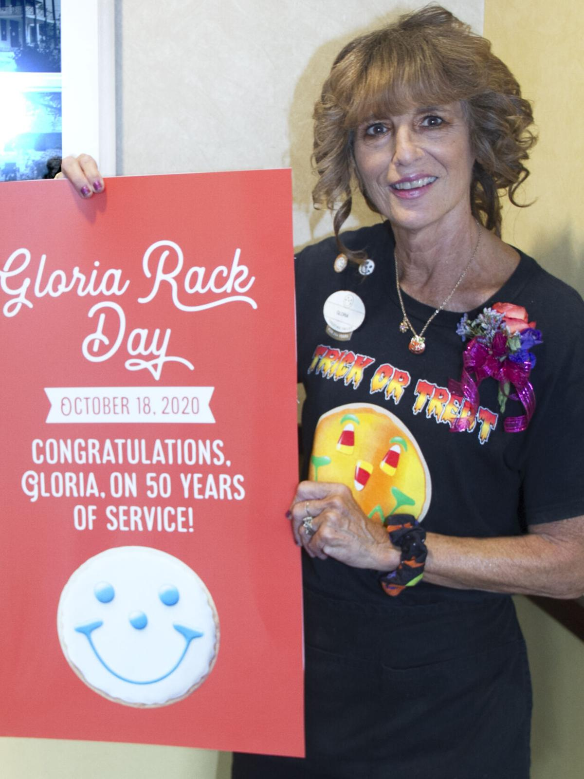 Gloria with sign