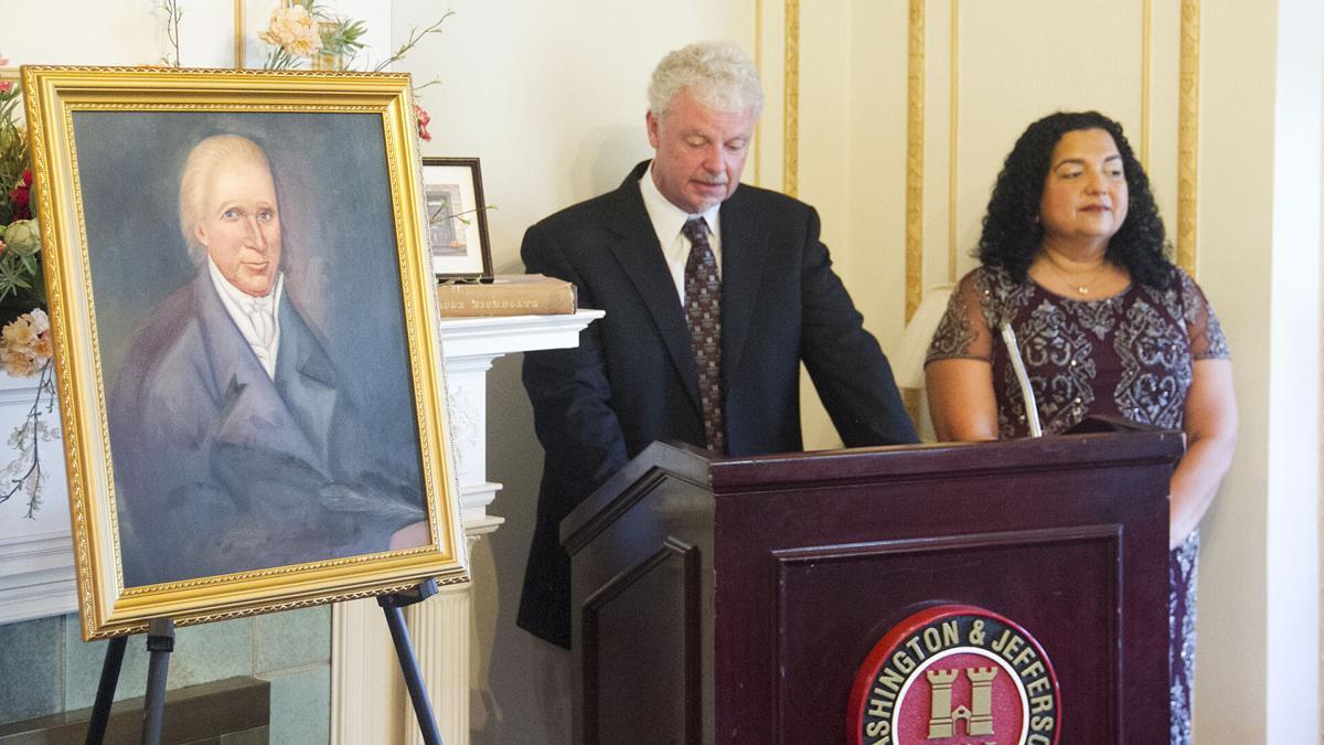 Allisons with portrait