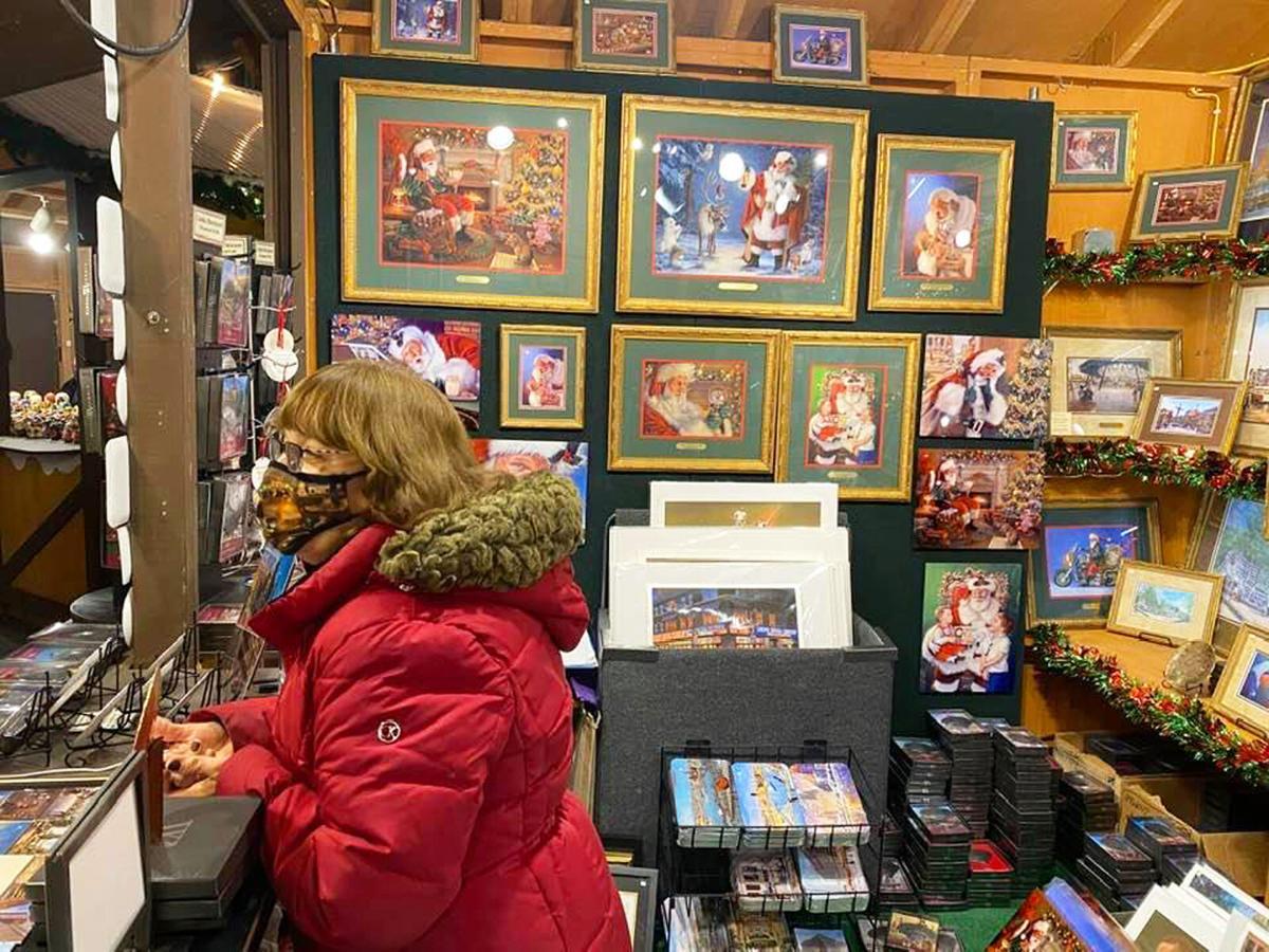 Linda at Holiday Market