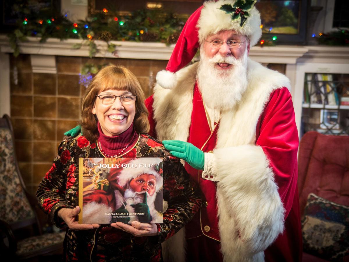 Linda Barnicott and Santa John