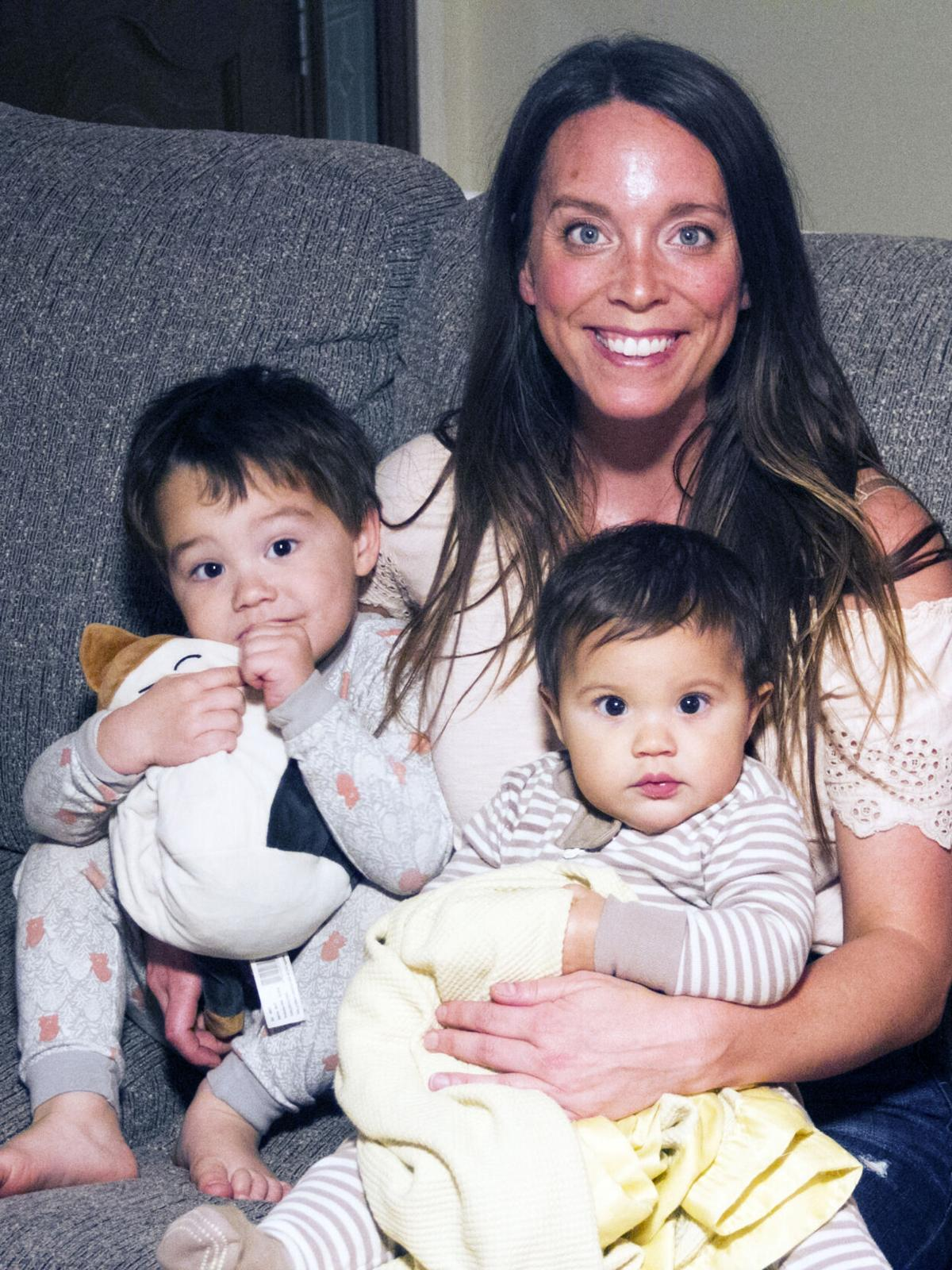 Katy with children