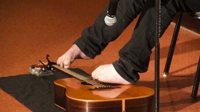 Speaker impresses Seton LaSalle audience with musicianship, resolve