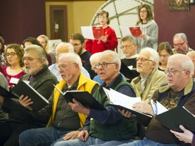 Chorale rehearsal