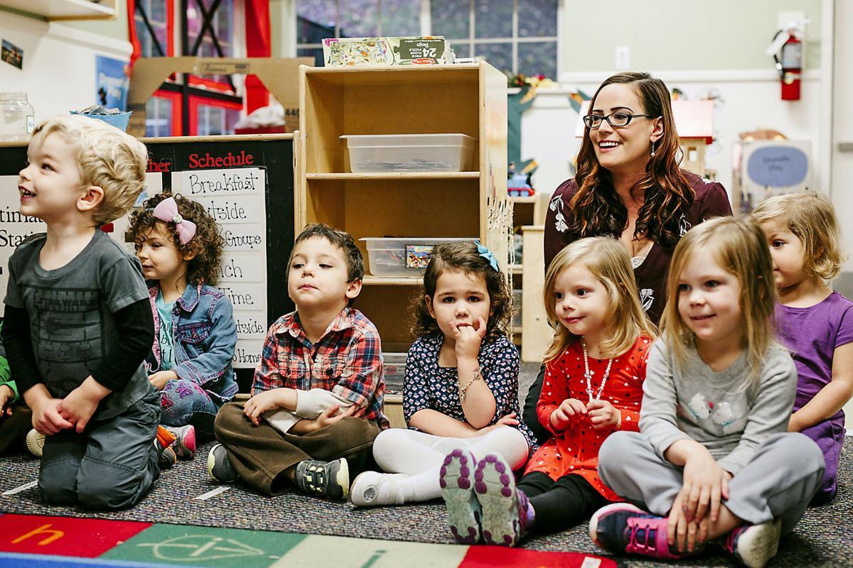 Dana Davin with students PRINT