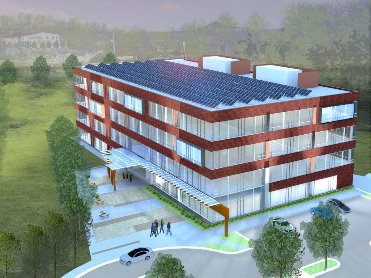 Employees collaborate on workspace design at new 'green' building in South Fayette