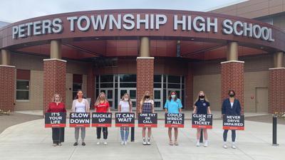 Peters High School signs