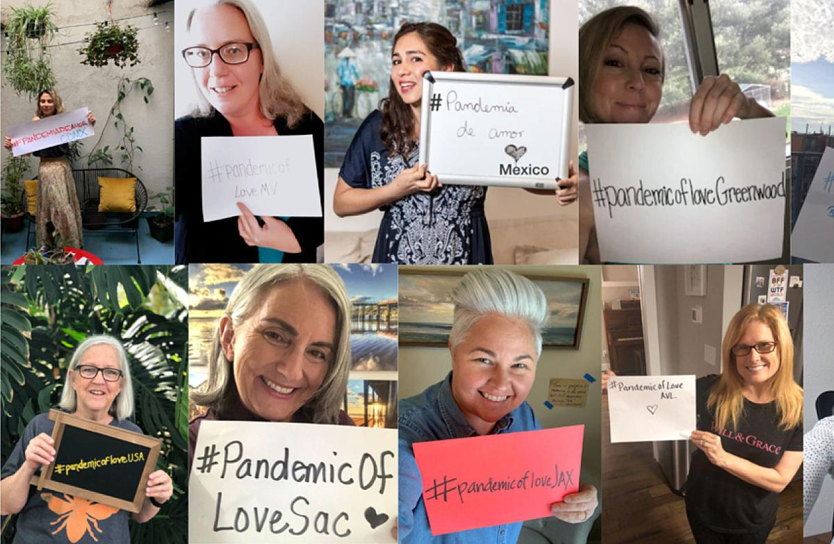 Pandemic of Love collage