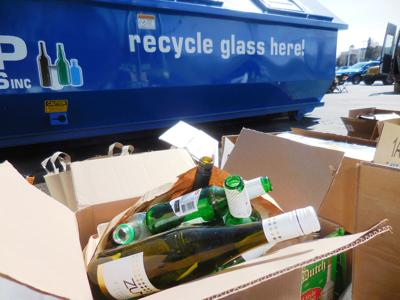 Recycle glass here