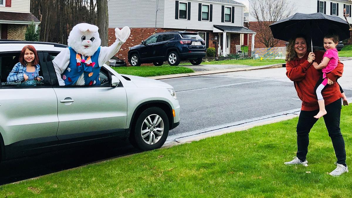 Drive-by Easter Bunny 1