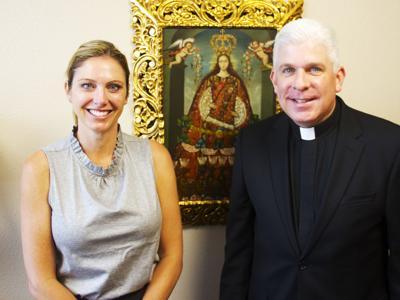 Harmony Stewart and the Rev. Michael Caridi