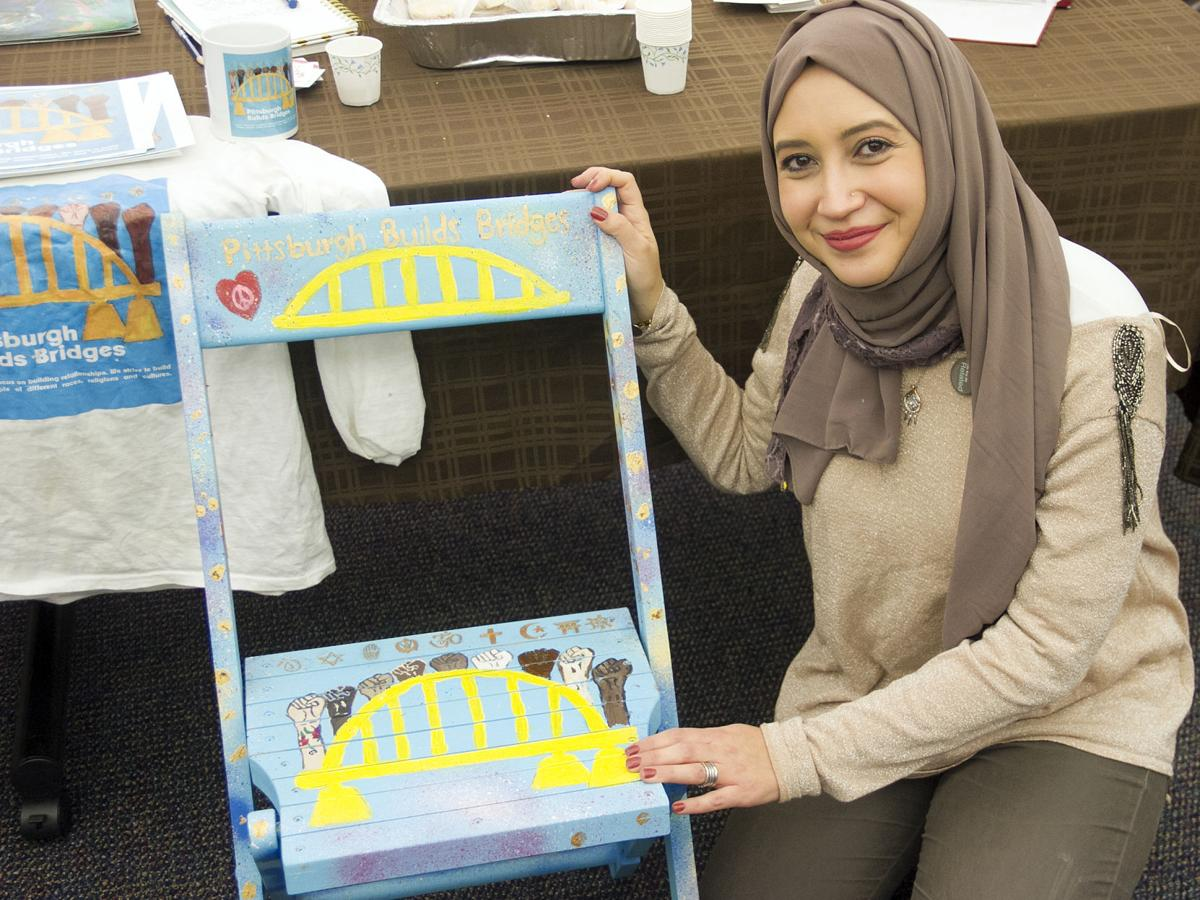 Ebtehal Badawi with chair