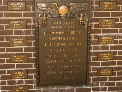 Peters Township war memorial