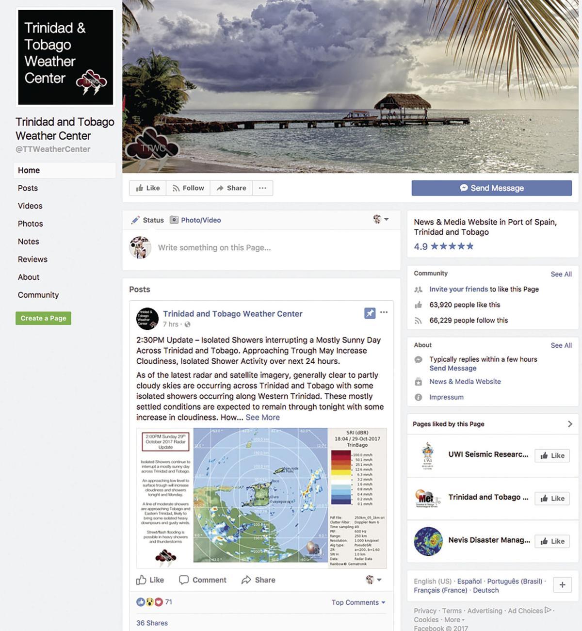 Trinidad and Tobago Weather Center Facebook