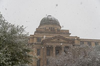 Snow At The Academic Building