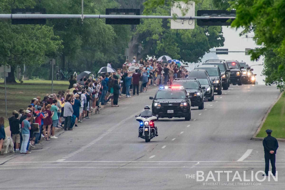Barbara Bush Motorcade
