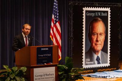 Bush Stamp Dedication