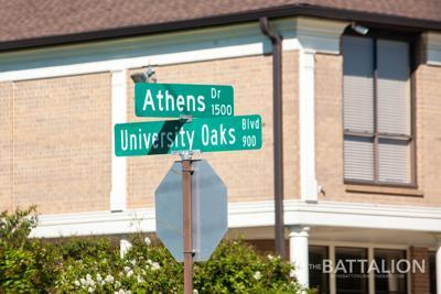 Athens Drive Street Sign