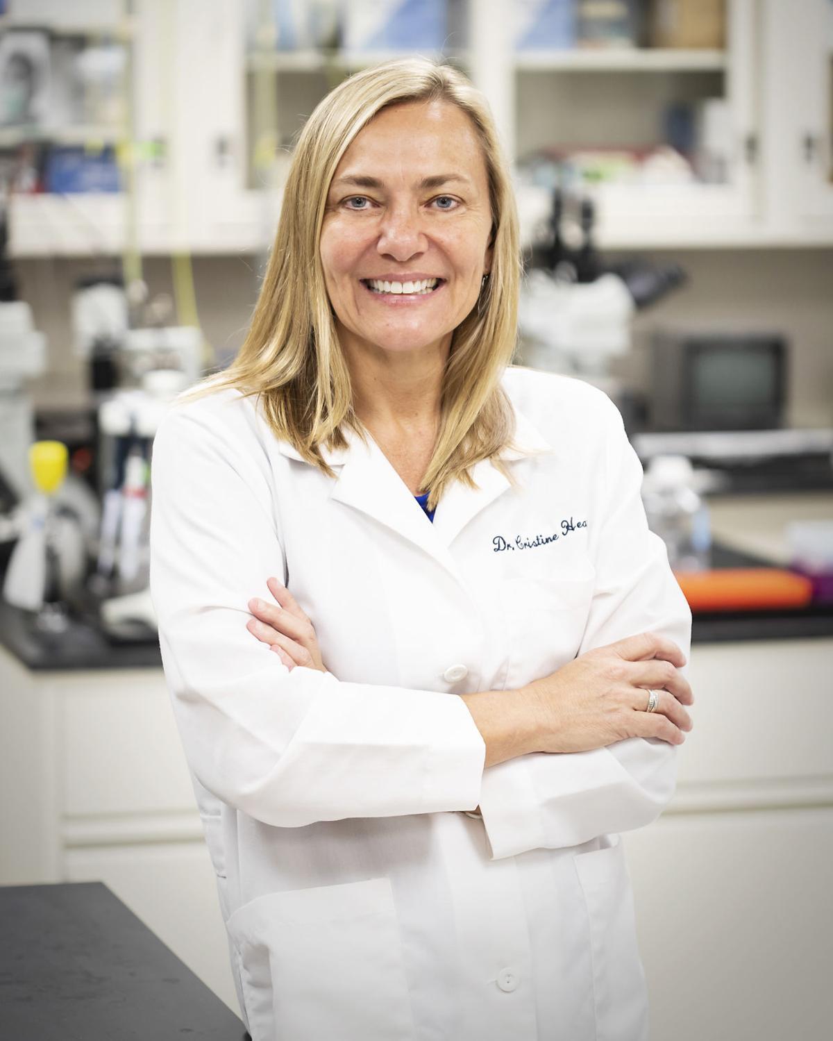 Cristine Heaps in her lab