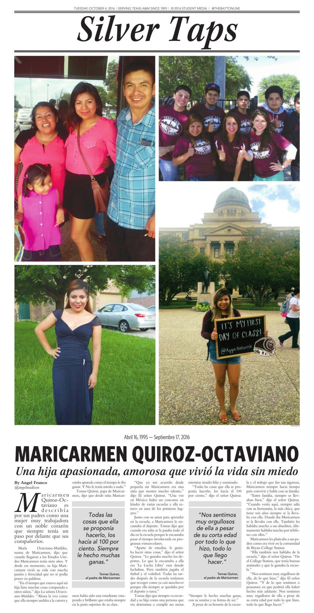 Maricarmen Quiroz-Ocatviano en Español