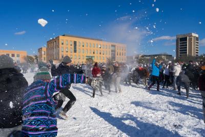 Snowball Fight on Simpson Field