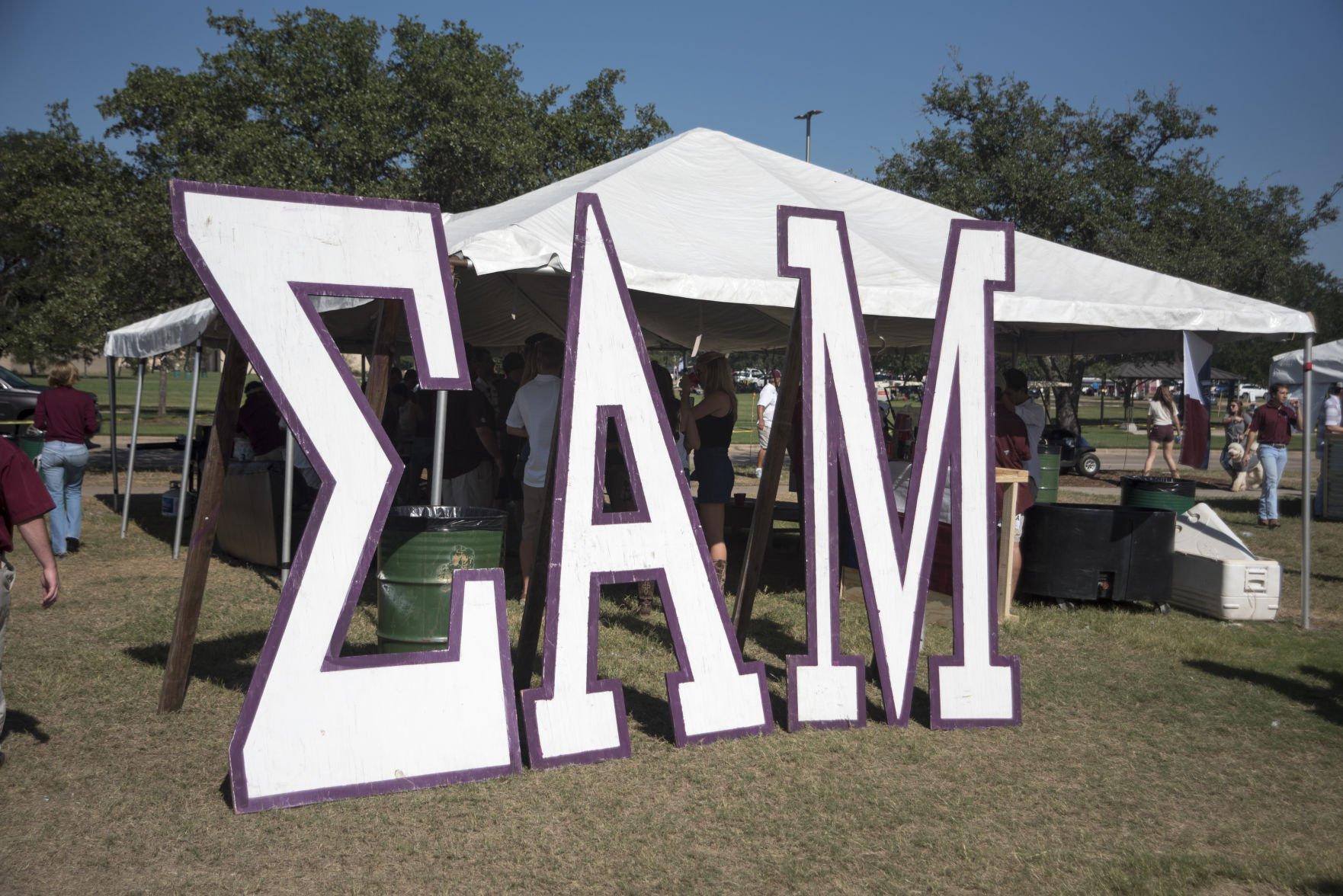 A swastika was carved into Sigma Alpha Muu0027s bar during the Texas Au0026M-Nicholls State game. A police report was filed but the two parties resolved the issue ... : canopy tamu - memphite.com