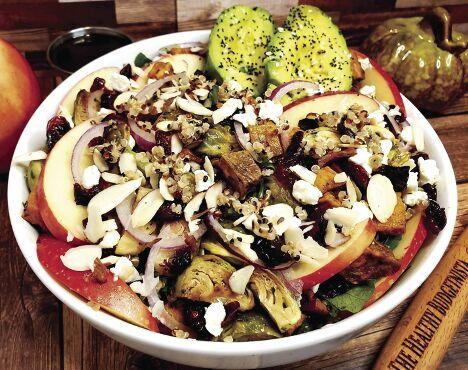 Winter harvest salad with honey Dijon vinaigrette