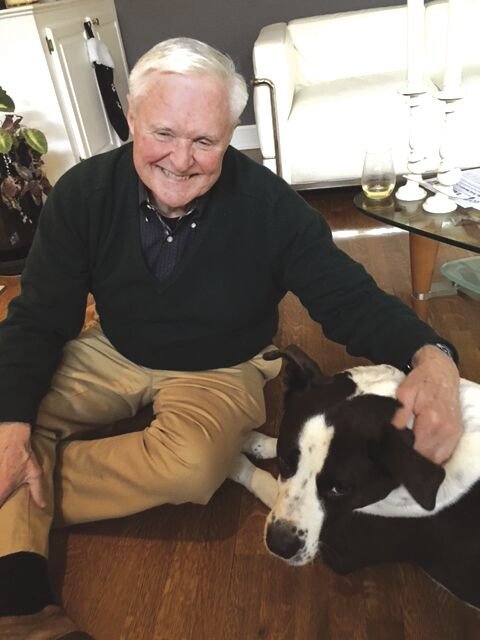 Fred Williams and his dog Chico.JPG