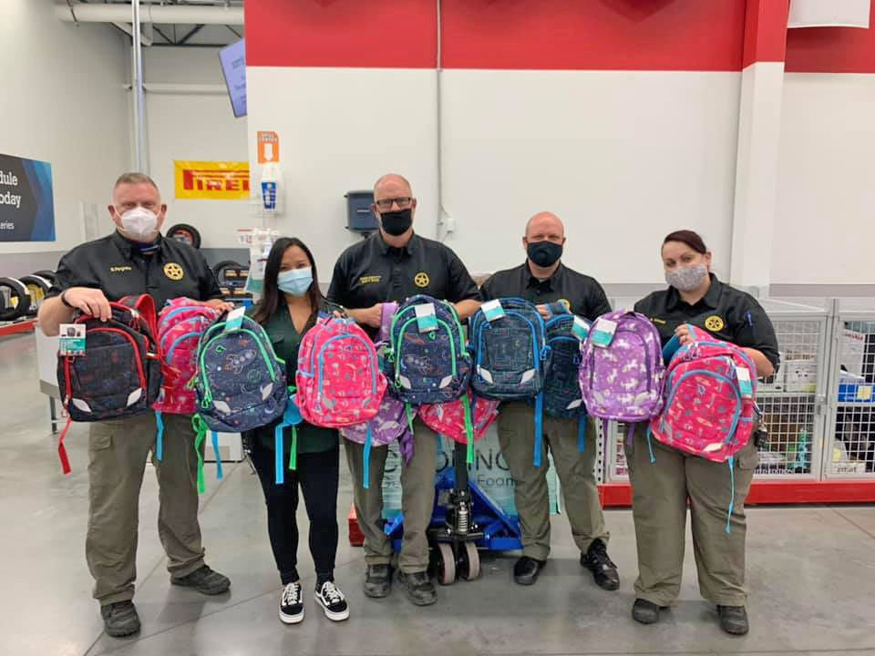Sam's Club donates 131 backpacks to help out FCSO SRO