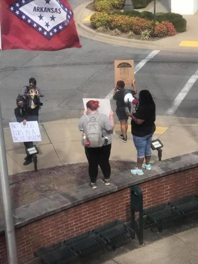 Police protest photo