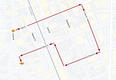 Parade Route Graphic