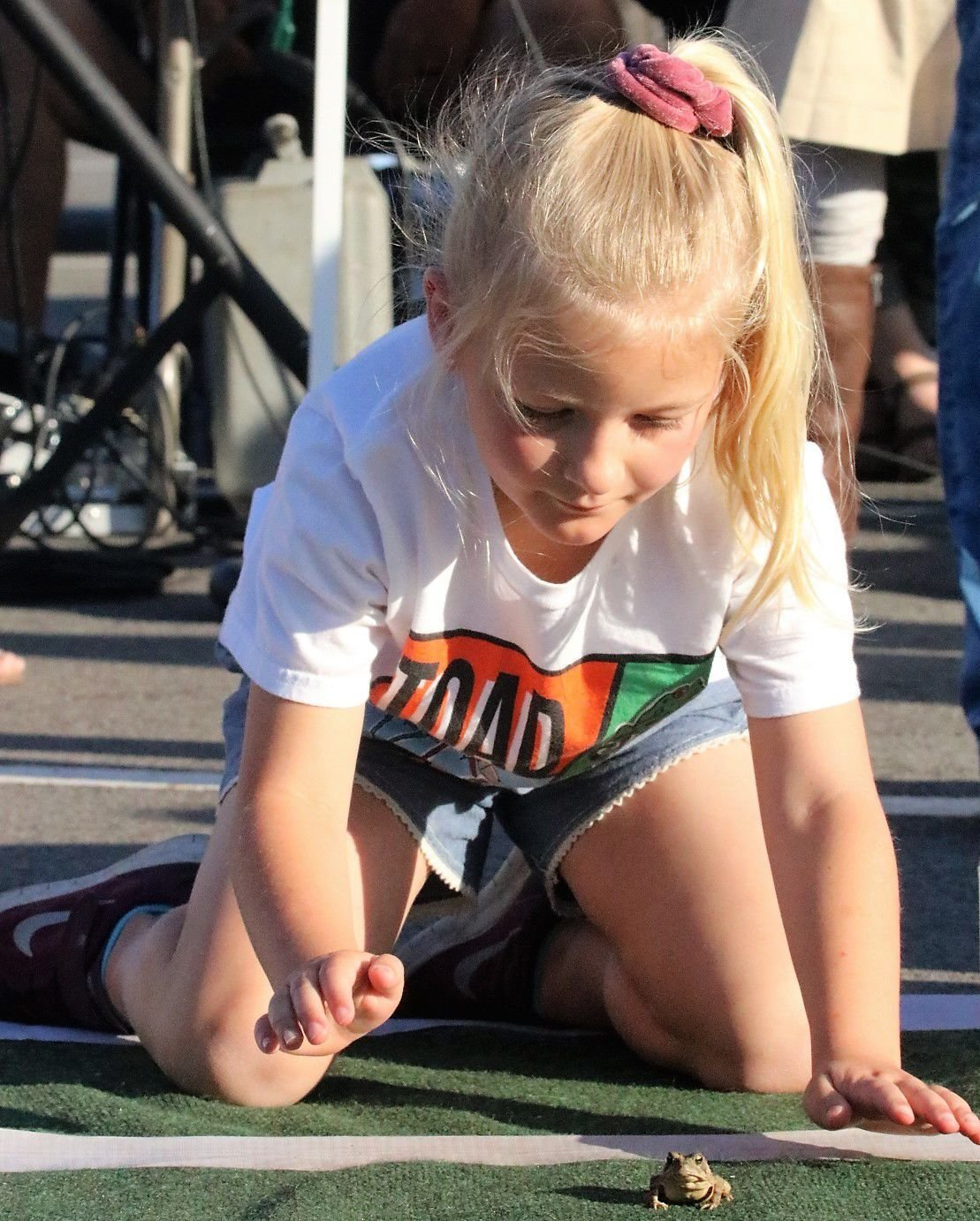 St. Joseph student out-hops competition in annual toad races 1