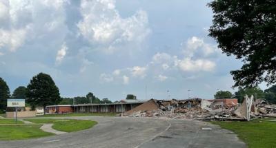 Demolition of original Sallie Cone Preschool structure begins 1