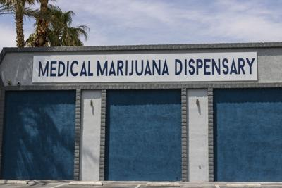 FILE - Medical marijuana dispensary