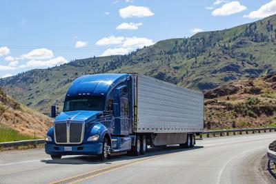 FILE - Trucker semitruck semi semi-truck