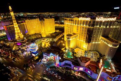 FILE - Las Vegas strip