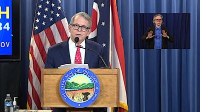 FILE - OH Mike DeWine 4-29-2020
