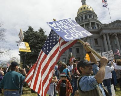 FILE - Tax Day Protests Colorado