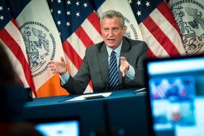 FILE - NY Bill de Blasio 6-25-2020