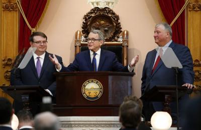 FILE - Ohio Budget growth DeWine Obhof Householder legislature