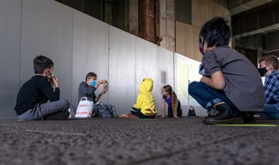 FILE - NY kids, students, children, masks 10-21-2020