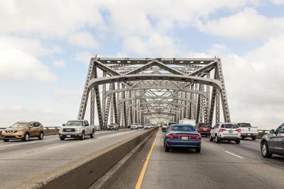 FILE - Interstate 10 bridge in Calcasieu Louisiana