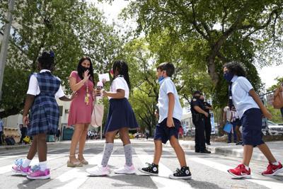 FILE - school masks, mask mandate, Virus Outbreak Florida