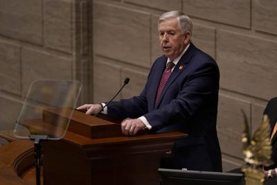 FILE - Gov. Mike Parson, Missouri State of the State