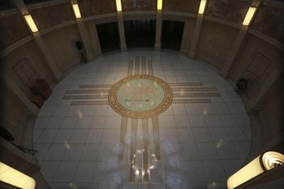FILE - New Mexico Capitol Rotunda