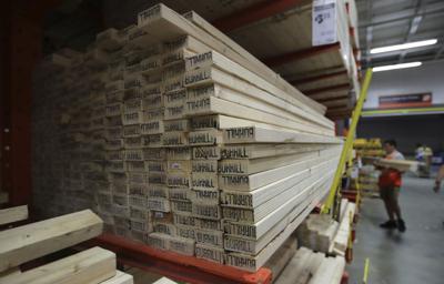 FILE - Lumber prices