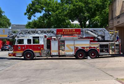 FILE - Austin fire department truck
