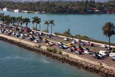 FILE - Miami traffic