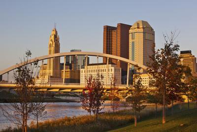 FILE - Columbus, OH skyline